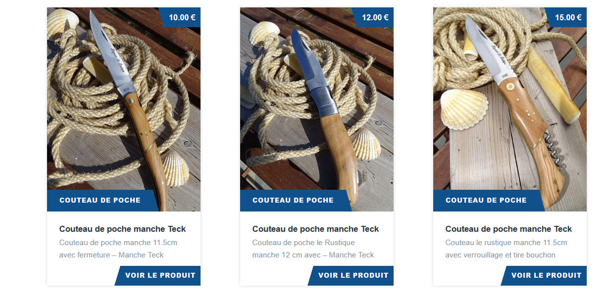 Boutique canifs et couteaux